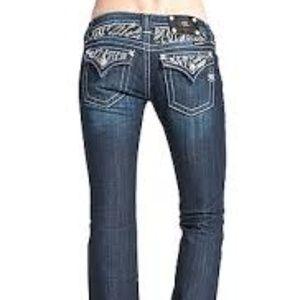 Miss Me Jeans Zebra Print Rhinestone Embellishment